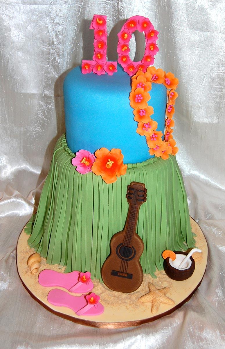Hula Girl Cake Design : Dress My Cake ~ Custom Cake Studio